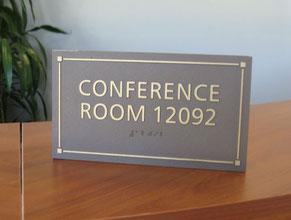 Metal Conference Room ADA Plaque