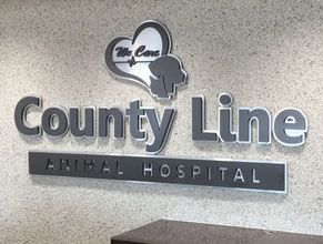 County Line Medical Office Lobby Sign