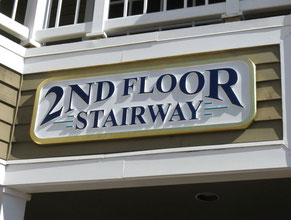 2nd Floor Wood Directional Sign