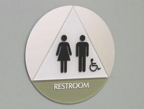 Kerlan Restroom Sign