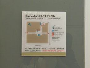Magnolia Evacuation Plan Office Sign