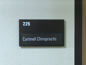 Cartmell Suite Plaque Office Sign