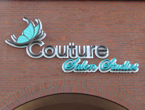 Couture Channel Letter Wall Sign