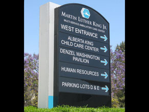 MLK Directional Sign 1