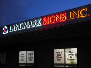 Landmark Business Sign