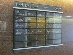 Park Del Amo Directory Office Sign