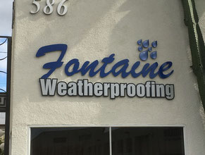 Fontaine Dimensional Letter Building Sign