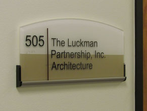 Luckman Suite Plaque ADA Sign