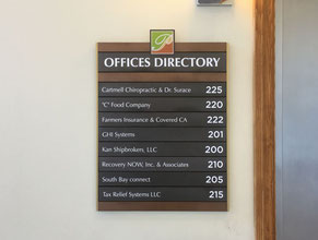 Park Directory Office Sign