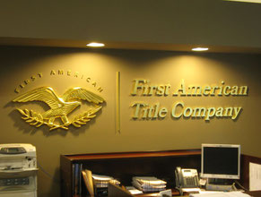 First American 3D Lobby Wall Office Sign