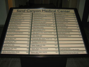 Sand Canyon Directory Office Sign