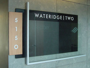 Wateridge Directory Office Sign