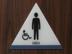 Glendale Restroom Sign