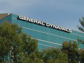 General Dynamics High Rise Building Sign