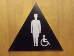 Queen Mary Mens ADA Restroom Sign