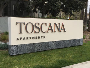 Toscana Single Face Monument Sign