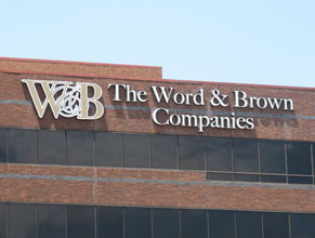 Word & Brown Channel Letter Building Sign