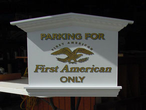 First American Wood Sign
