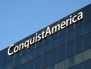 ConquistAmerica Channel Letter Building Sign