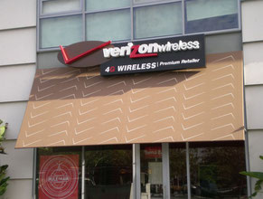 Verizon Awning Sign