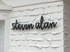 Steven Alan Dimensional Letter Building Sign