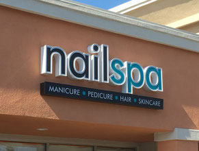 Nail Spa Channel Letter Wall Sign