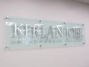 Kerlan Jobe 3D Lobby Wall Office Sign