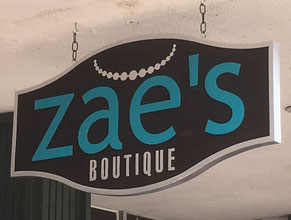 Zae's Business Sign