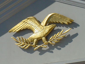 Molded Eagle Gold Leaf Sign