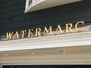 Watermarc Dimensional Letters Gold Leaf Sign