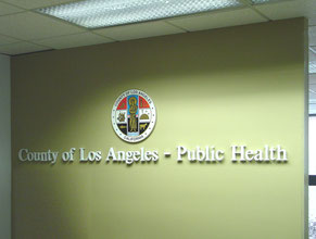 County of LA Medical Office Lobby Sign