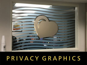 Privacy Glass Graphics Office Signs