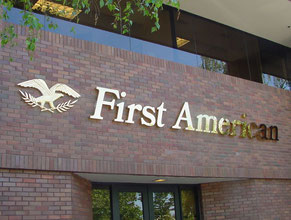 First Am Dimensional Letter Building Sign