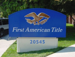 First American Title Monument Sign
