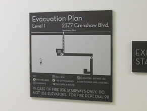 PDA Evacuation Plan Office Sign