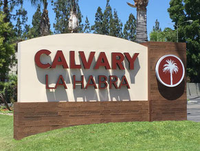 Calvary Monument Sign