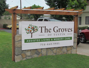 The Groves Wood Sign