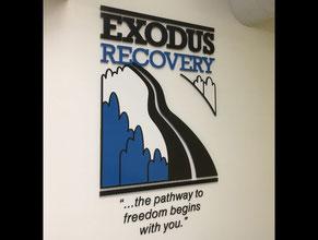 Exodus 3D Lobby Wall Office Sign