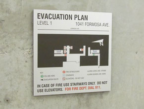 Formosa Evacuation Plan Office Sign