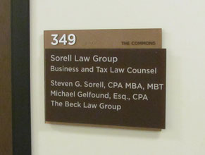 Commons Suite Plaque Office Sign