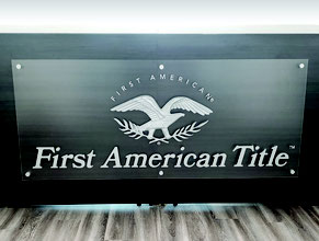 First American Dimensional Reception Desk Display