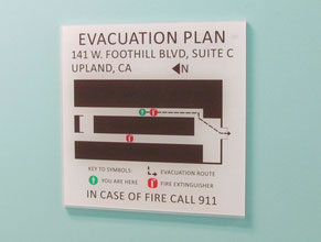 Couture Evacuation Plan Office Sign
