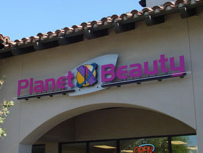 Planet Beauty Store Sign