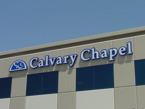 Calvary Chapel LED Building Sign
