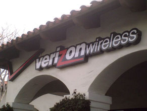Verizon Wireless Channel Letter Wall Sign