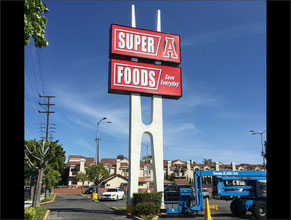 Super A Pole Sign