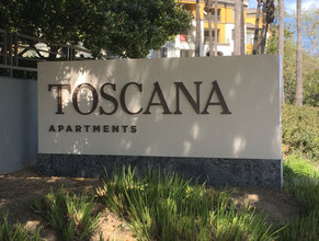Toscana Double Face Monument Sign