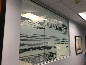 Breakroom Privacy Window Graphics