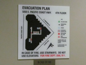 SCOP Evacuation Plan Office Sign