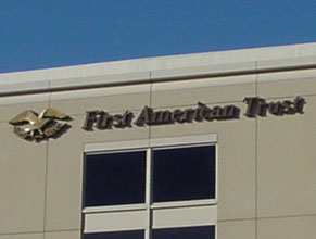 First American High Rise Building Sign
